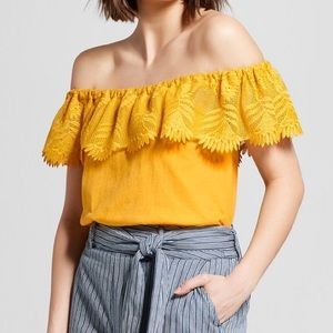 A new day off the shoulder top